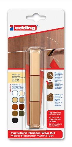 Kiefer-fichte (edding 8901 Möbel-Reparatur-Wachs-Set - 3 mischbare Farben - fichte-kiefer - Zum Entfernen von Kratzern und Schrammen auf Möbeln und Holz)