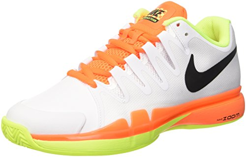 Nike Zoom Vapor 9.5 Tour Clay, Scarpe da Tennis Uomo, Multicolore (White/Black Volt Total Orange), 44 EU