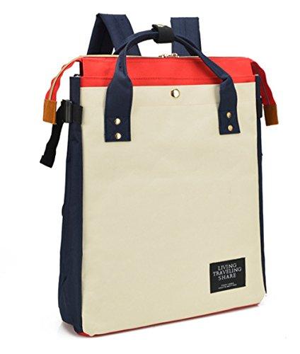 Tibes Lässige Leinwand Rucksack Vintage Unisex Daypack Marine Grau