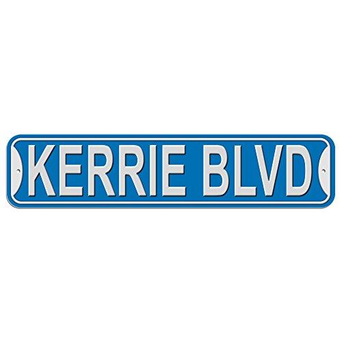 Kerrie Schild–Kunststoff Wand Tür Street Road weiblich Name, plastik, blau, Boulevard
