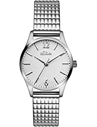 s.Oliver Damen-Armbanduhr Analog Quarz Edelstahl SO-3191-MQ