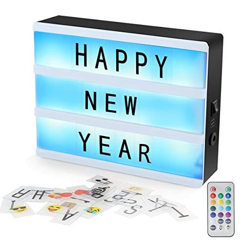 Wallfire A5 Magnetic Cinematic Light Box Fernbedienung DIY Brief Kombination Nachricht Display Leuchtkasten mit 90 Buchstaben Zahlen & Symbole -