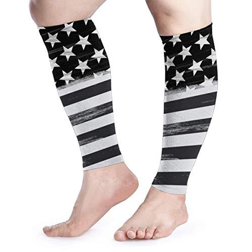Bgejkos American Flag Unisex Calf Compression Sleeve - Leg Compression Socks for Running, Shin Splint, Calf Pain Relief -