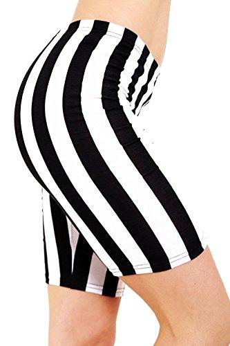 Vanilla Inc - Short - Femme Black and white Stripes