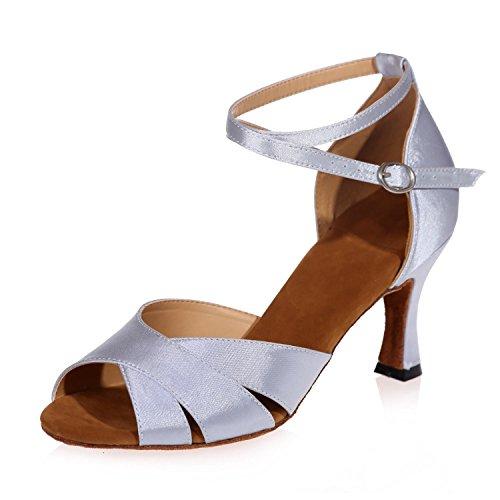 I Sandali Di Cuoio Moderno Dei Sandali Di Cuoio Dei Pattini Di Ballo Latino Femminili Delle Donne Fungono Spesso Con La Personalizzabilità Bianca