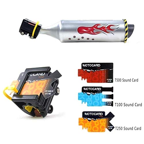 COMEYOU Motorrad Sound Fahrrad Auspuff Sound System mit 6 einstellbaren Turbo Kinder Motor Sound Motor Bike Zubehör