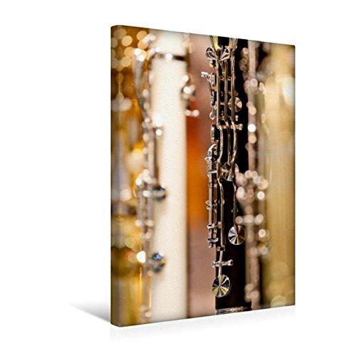 Calvendo Premium Textil-Leinwand 30 cm x 45 cm hoch, Klarinette | Wandbild, Bild auf Keilrahmen, Fertigbild auf echter Leinwand, Leinwanddruck Kunst Kunst