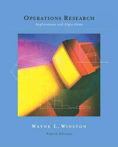 (Operations Research: Applications and Algorithms (with CD-ROM and Infotrac) [With CDROM and Infotrac]) By Winston, Wayne L. (Author) Hardcover on 01-Jul-2003