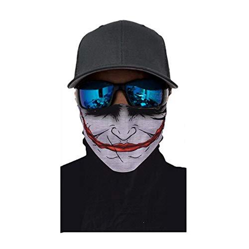Yisily 1 pc elastico senza soluzione continuità magia fascia multifunzionale copricapo clown maschera per viso parasole maschera dell'involucro della testa del bandana per halloween faccia pagliaccio