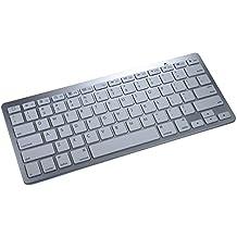 Acer Iconia Tab A1-810 / A1-811 / A1-830 Teclado inalámbrico, COOPER B1 Teclado QWERTY inalámbrico Bluetooth para Tablet y Smartphone, Compacto, Portátil, Ultraligero, Ultrafino, con Batería Recargable (Blanco)