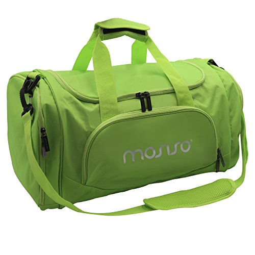0d15c40662 MOSISO Canvas Fabric Foldable Gym Bag Sports Duffels Lightweight Athletic  Sport Shoulder Bag