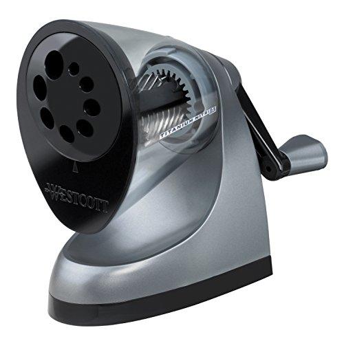 Westcott E-16549 00 iPoint ClassAct Titan Nitrid beschichteter manueller Anspitzer, grau