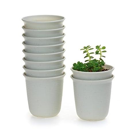 T4U Rond Plastique Pots de Pépinière en Pot de Plante