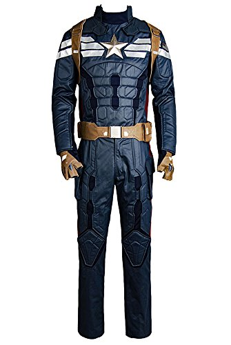 Captain America 2 The Winter Soldier Steve Rogers Uniform Outfit Cosplay Kostüm (Winter Soldier Kostüm Für Erwachsene)