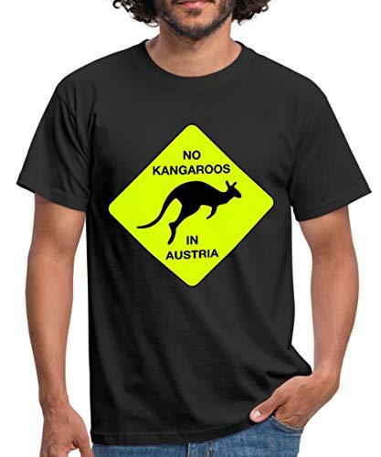 Spreadshirt No Kangaroos in Austria Kein Kängaru in Österreich Männer T-Shirt, L, Schwarz