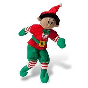 Elf Magic 15,2cm tamaño de Bolsillo Boy Elfo Peluche con Cabello Negro