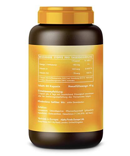 Sonnenvitamine Vitamin D3 + K2 + Omega 3, 80 Kapseln - 2