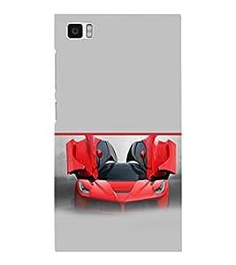 printtech Red Superfast Car Back Case Cover for Xiaomi Redmi Mi3::Xiaomi Mi 3