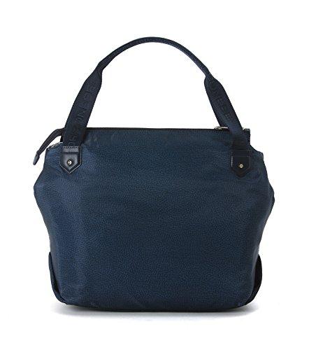 58a045dbf7 Donna Media Op Borsa Borbonese E Spalla Bag Pelle Blue Jet Tessuto Note  b6Yf7gy