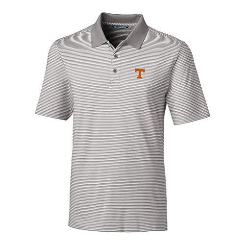 Cutter & Buck NCAA Herren Poloshirt, kurzärmlig, gestreift, gestreift, Herren, Short Sleeve Tonal Stripe Forge Polo, poliert, X-Large (Hemd Gestreiften Tonal Herren)