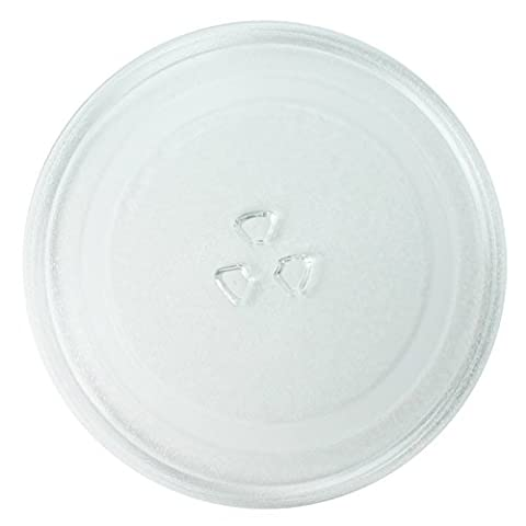 Spares2go Universal Glass Turntable Plate for Breville Microwave Ovens (245mm)