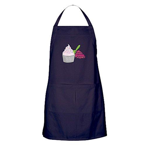 CafePress – La Reine des neiges Yoghourt ? Tablier (foncé) – 100% coton Tablier de cuisine avec poches, cuisson parfaite Tablier ou cuisson Tablier