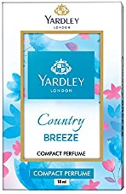 Yardley Country Breeze Compact Perfume, sparkling freshness all day, fruity, floral, amber and musk, on-the-go