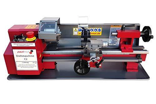PAULIMOT große Ausführung: Drehmaschine SIEG C2 mit 230 Volt Motor 250 Watt 100 mm Futter 400 mm Spitzenweite