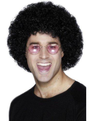 Mens Womens Black 60s 70s 80s Scouser Retro Disco Curly Afro Wig Fancy Dress WIG