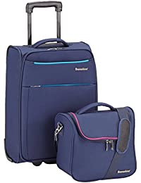 Saxoline 39940.07.49 Liberty Kombi-Set- Koffer und Beauty Case, Blau
