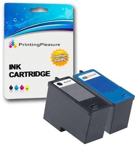 Dell 924 Drucker Tinte (2 Tintenpatronen kompatibel zu Dell Serie 5 M4640 M4646 für Dell 922 924 942 944 946 962 964 - Schwarz/Color, hohe Kapazität)