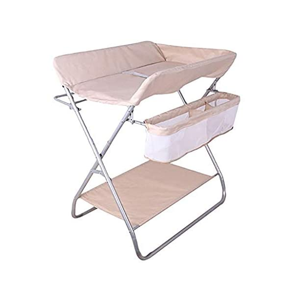 QZQKQ Universal Baby Cot Top Changer Portable Changing Table Diaper table Folding Baby Changing with Safety Straps QZQKQ *Material: Linen cloth, steel pipe *Suitable for 0-12 months baby, most comfortable height for you to take care of your baby *Quick and easy folding or collapsible by folding mechanism 1