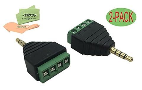 Cerrxian 4Pole stéréo 3,5mm TRRS Audio Vedio mâle vers 4bornes