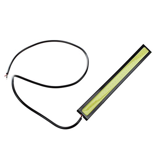 SODIAL(R) 2 x 5W DRL COB LED Ampoule Lampe Lumiere Feux de Jour Blanc DC 12V Voiture