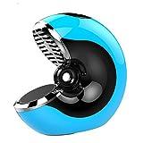 qiyan Tarjeta de Altavoz Creativa inalámbrica Subwoofer Hogar al Aire Libre Portátil Smart Touch Llamada de Carga Altavoz pequeño Azul