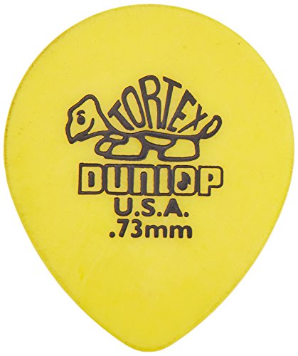 DUNLOP 413 PúAS TORTEX TEAR DROP BIG PACK AMARILLAS 0 73 MM