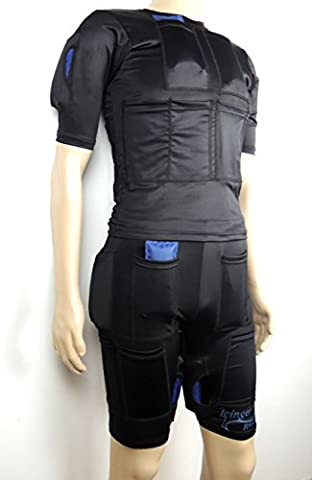Icinger Power Kühlender Anzug zur Fett-Verbrennung durch Kälte - Eis-Packs inbegriffen - Size Shorts & TShirt S -