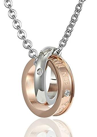 Women Double Ring CZ