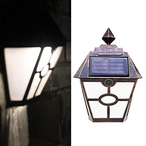 FeiliandaJJ LED Solar Wandleuchte für Außen Garten Licht Outdoor Solarleuchte Außenleuchte Perfekt für Garten/Rasen/Hof/Eingang/Park/Platz/Fassaden usw. (A)