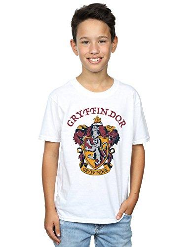 Harry Potter Jungen Gryffindor Crest T-Shirt Weiß 9-11 Years