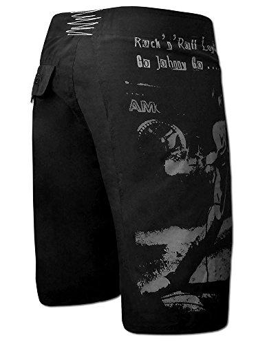 SEESTERN Herren Boardshorts Surfshort Ramones Print Boardshort Surf Shorts XXL Johnny Ramone