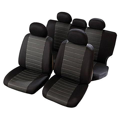 Nissan Terrano 1 - Housses de Siège 1/3 2/3 Noir Gris