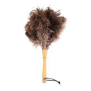 Plumeau 35 cm avec plumes d'autruche véritables - Plumeau d'autruche fait main z2375 (Silverfloss/plumes extra douces)