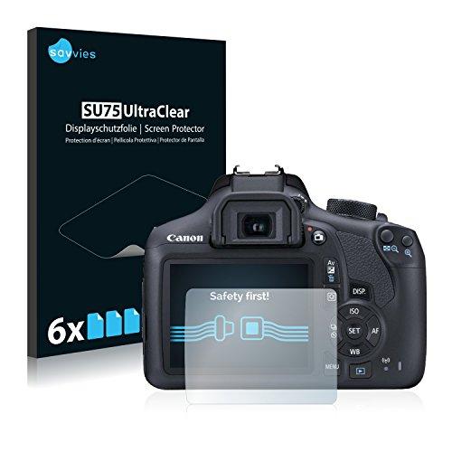 6x Savvies Protector Pantalla para Canon EOS 1300DProtector Transparente