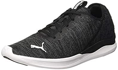 Puma Men's Ballast Black-Iron Gate White Running Shoes