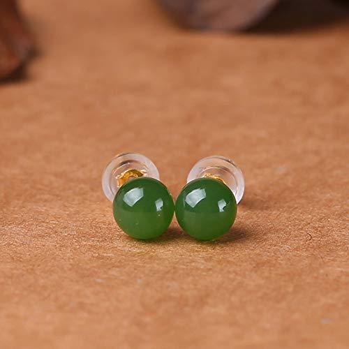Mayanyan Einfache natürliche hetian Jaspis Ohrringe Yang Green weibliche Ohrringe Frauen Geschenke