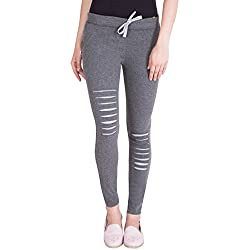 American-Elm Women's Stylish Dark Grey Cotton Joggers