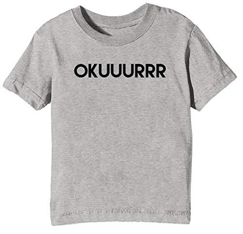 e82d65678b24 ... no biscuit t-shirt. Okuuurrr - Cardi B Niños Unisexo Niño Niña Camiseta  Cuello Redondo Gris Manga Corta Tamaño L