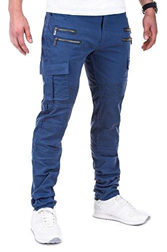 Ombre-Eight Chino Double-Zip Hose P419 Blau