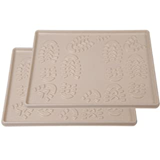 AS4HOME 2x Tablett für Trocknen von Schuhen 49x 35cm-BEIGE